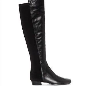 Karita Leather Over-the-Knee Block Heel Boots